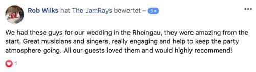 Bewertung Hochzeitsband