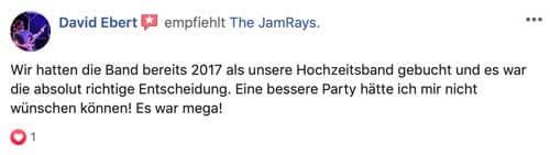 Bewertung Partyband